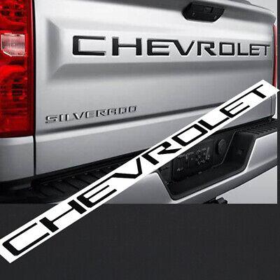 Black Tailgate Letter Insert For 2019-2020 Chevrolet Silverado 1500 2500 3500 HD