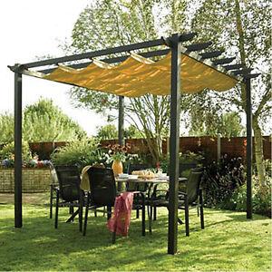 Yellow Outdoor Manual Retractable Shade Sun Shelter 270028