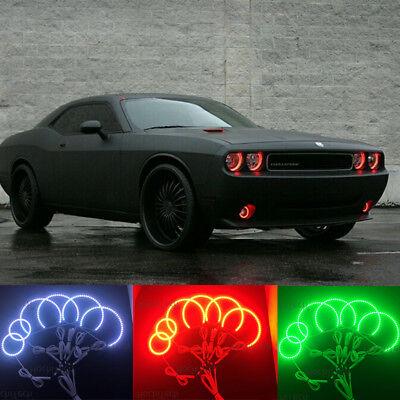 Multi-color Led Angel Eyes Kit RGB Halo Rings Light For Dodge Challenger 2008-14