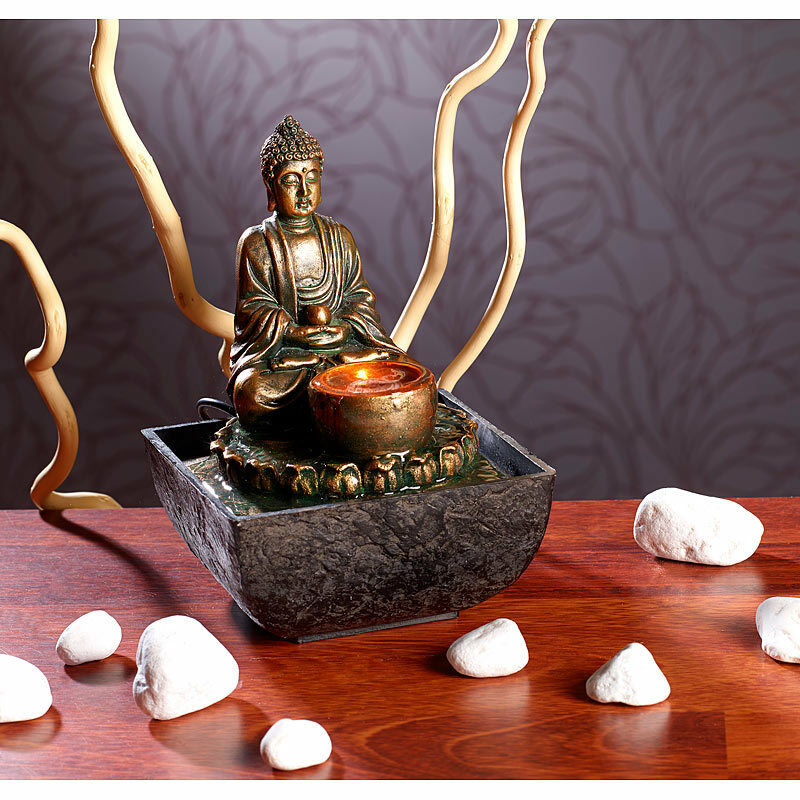 springbrunnen beleuchteter zimmerbrunnen mit buddha zimmerbrunnen mit led eur 16 90. Black Bedroom Furniture Sets. Home Design Ideas