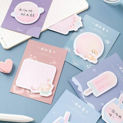 30 Sheets Sticky Notes Memo Pad Paper Stickers Cute Cartoon Funny Summer Style I