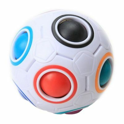 2018 New Rainbow Football Ball Spherical Magic Cube Education Puzzle Kids Toys