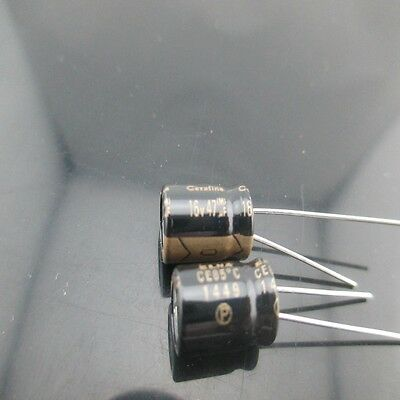 4pcs Elna Cerafine Roa 47mfd 16v 47uf 8x11.5mm Electrolytic Capacitor