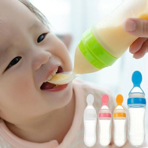 Baby spoon Feeding Bottle Silicon Spoon Feeder Free Shipping Food Drinkin cereal