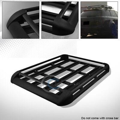 "50"" BLACK HD ALUMINUM ROOF RACK BASKET CAR TOP CARGO BAGGAGE CARRIER STORAGE CA1"