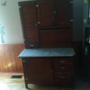 Antique Kitchen Cabinet with Flour Mill