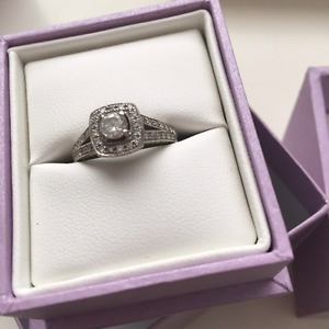 14ct white gold engagement ring.