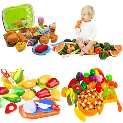 Spiel Lebensmittel Sets Holz zum Schneiden Zubehör Kinderküche Spielküche Set  ()