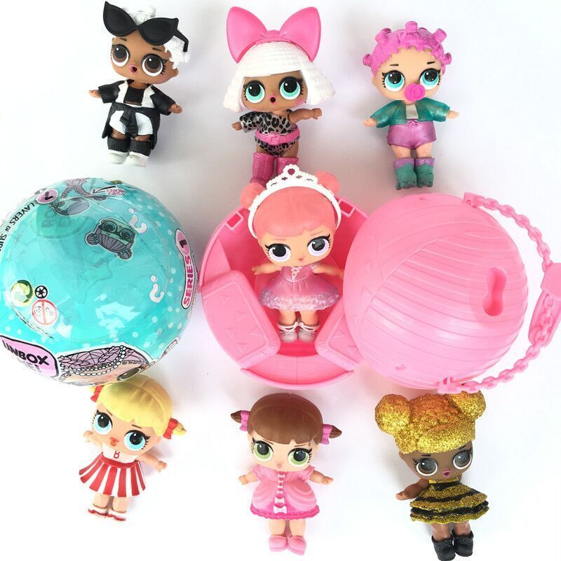 KIDS Funny Toys LOL SURPRISE DOLL 1Lil Sisters Ball ...