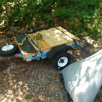 Utility Trailer that converts to 12 ft. boat trailer.