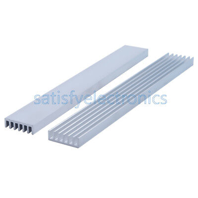 5x Silver-white Heat Sink Led 150x20x6mm Heat Sink Aluminum Cooling Fin