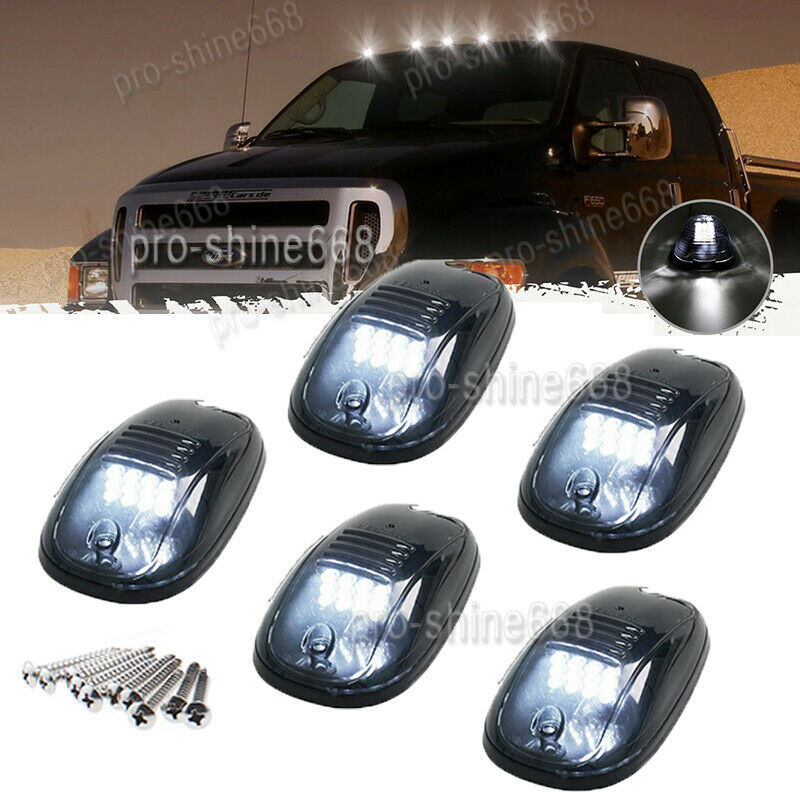 Replacement Roof Running Cab Marker Light Clear Covers Base Housing For 2003-2017 Dodge Ram 1500 2500 3500 4500 5500