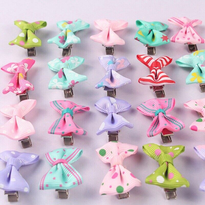40x Baby Girls Kids Children Toddler Mini Flowers Hair Clips Bow Hairpin new^3Y