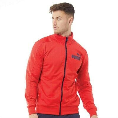 Puma Mens Essentials Poly Track Jacket Puma Red/Peacoat S,L,XL