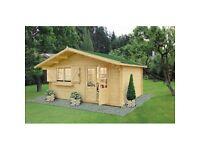 Log Cabin 4,5 x 4 m, 34 mm
