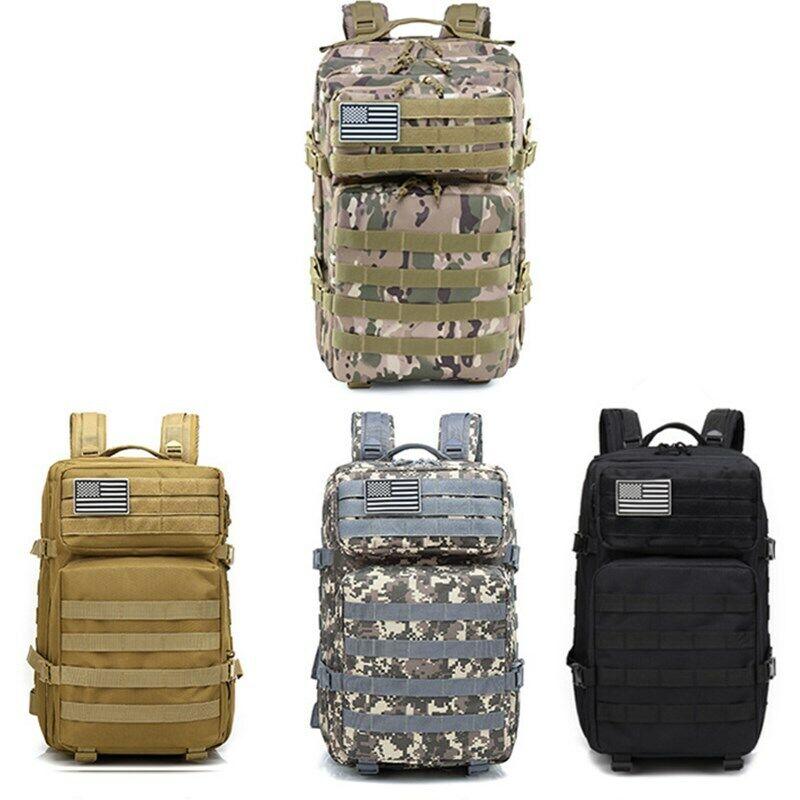 45L Large Capacity Oxford Waterproof Men Outdoor Tactical Backpack Shoulder Bag