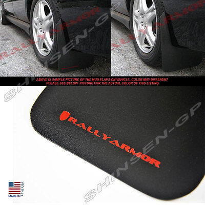 RALLY ARMOR BASIC MUD FLAPS FOR 2002-2007 IMPREZA SEDAN WRX STI w/ RED LOGO