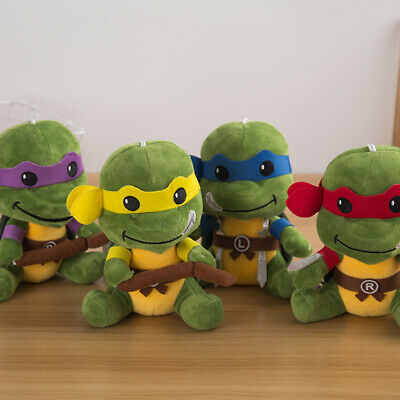 Teenage Mutant Ninja Turtles TMNT Soft Stuffed Doll Cute Plush 4 pcs Set Kid Toy - Ninja Turtles Stuffed Animals