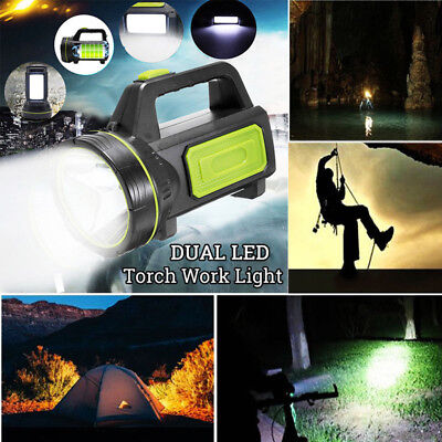 Rechargeable Dual LED Ultrabright Work Light Torch Candle Spotlight Hand Lamp