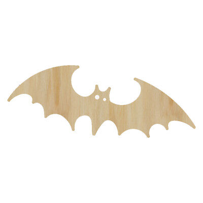 Laser Cut Out Wood Bat Wood Shape Craft Supply - Unfinished Wood shape Halloween (Bat Cut Outs)