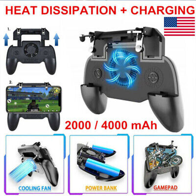 For Mobile Phone PUBG Game Pad Controller Gamepad Holder with Cooler Cooling -