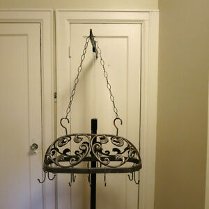 Vintage Pot Hanger Wrought Iron Ornate
