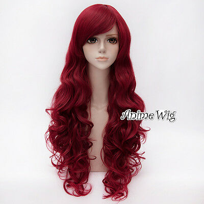 80CM Long Red Curly Hair Women Halloween Party Cosplay Wig](Halloween Red Hair)