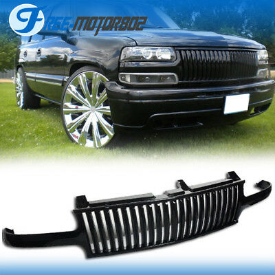 For 99-02 Chevy Silverado 00-06 Tahoe Suburan Black Front Grill Grille ABS
