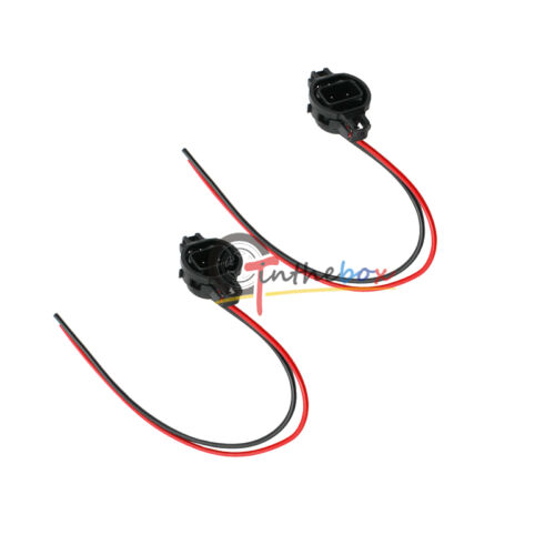 2PCS 5202 H16 Male Adapter Sockets Pigtail Harness For Fog