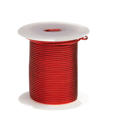 20 Awg Gauge Heavy Copper Magnet Wire 8 Oz 157 Length 0.0346 155c Red
