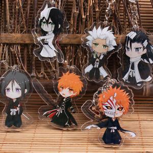 Japan Anime BLEACH Kurosaki ichigo Acrylic Key Ring Pendant Keychain Gift