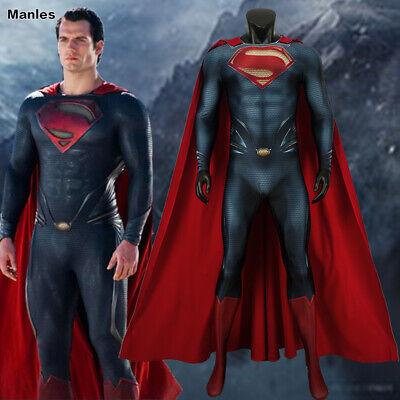 Man of Steel Clark Kent Costume Zentai Bodysuit Halloween Jumpsuit 3D Printed](Clark Kent Halloween Costumes)