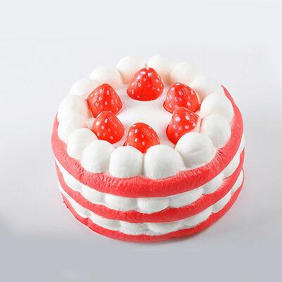 Jumbo Strawberry Cake Squishy Charm Soft Slow Rise Christmas Gift Toy