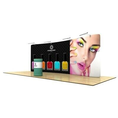 Wave Tube 20 Curved Tension Fabric Trade Show Display