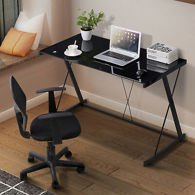 Computer Desk PC Laptop Sun-glasses Table Black Workstation Office Home Furniture