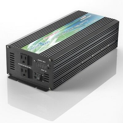 BRAND NEW PURE SINE WAVE POWER INVERTER 1500/3000 WATT 12V DC TO 120V (1500 Watt Pure Sine Wave Power Inverter)