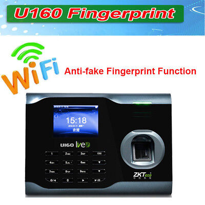 Zk U160 3 Tft Biometric Wifi Fingerprint Time Attendance Time Clock Recorder