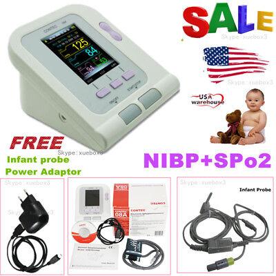 Neonateinfant Upper Arm Nibp Digital Blood Pressure Monitorspo2 Oximeter.new
