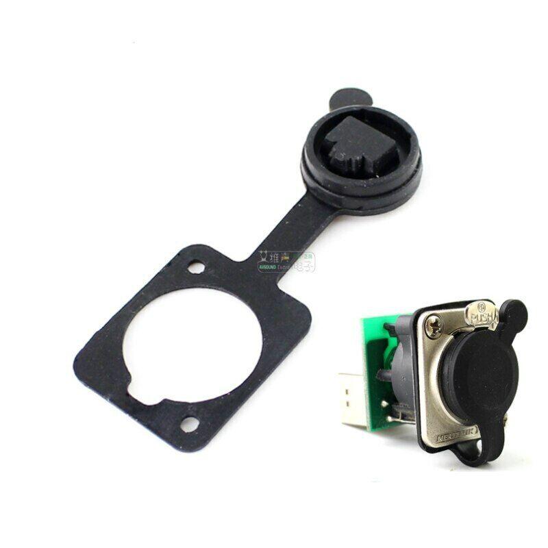 1Pcs RJ45 network D-type base socket dustproof and waterproof plastic cover