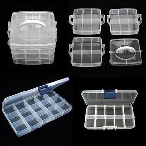 Kunststoff-Sortierkasten-Perlenbox-variable-Trenner-Sortierbox-10-15-18-Facher