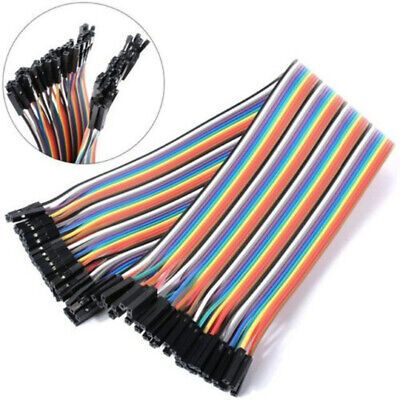 40 Pcs Dupont Cables Female To Female 2.54mm 1p-1p Pin Header For Arduino Sale