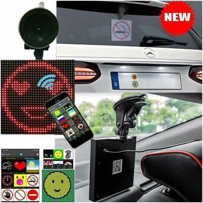 Car Emoji Emoticon App Controlled Wireless Bluetooth Animated LED Display Screen