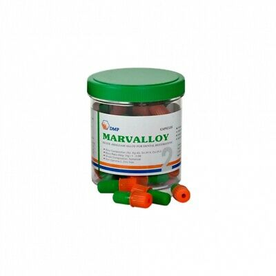 Dental Dmp Marvalloy Silver Amalgam Alloy 50 Capsules - 2 Spill - Orange 2021-11