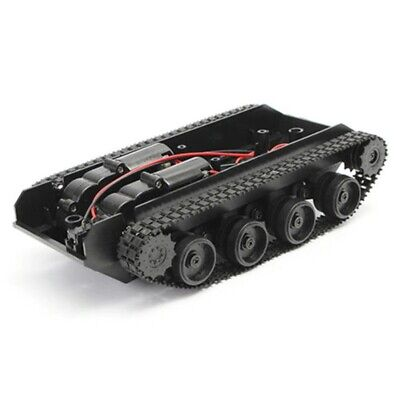 Shock Absorbed Rc Smart Robot Tank Chassis Kit Rubber Track Crawler For Arduino