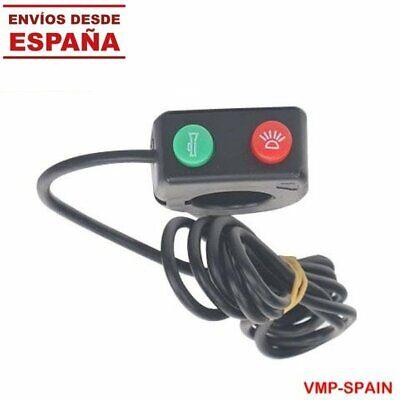 CABLE CON INTERRUPTORES PARA LUZ Y CLAXON PATINETES / BICICLETAS ELECTRICAS