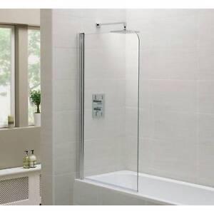Bath screen frameless 10mm clear glass Fairfield Fairfield Area Preview
