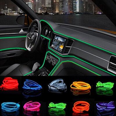 2h Licht (Moderne EL-Kabel EL Ambientebeleuchtung Innenraumbeleuchtung Lichtleiste  Auto)