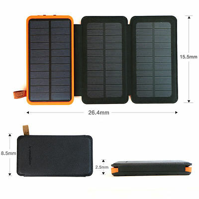 500000mAh Solar Panel Extrinsic Battery Charger Power Bank For Cell Phone Tablets