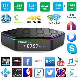 T95Z Plus Amlogic S912 Android TV BOX 3G/16G Media Player 17.3