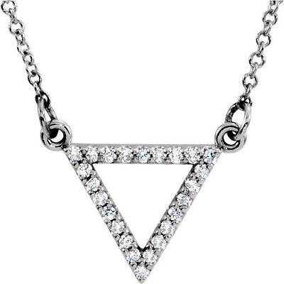 Diamond Triangle Necklace - Diamond Triangle 16